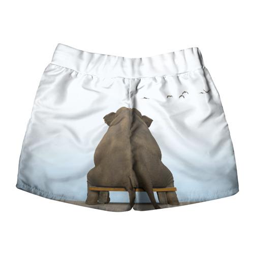 Женские шорты 3D  Фото 02, Слон и журавли