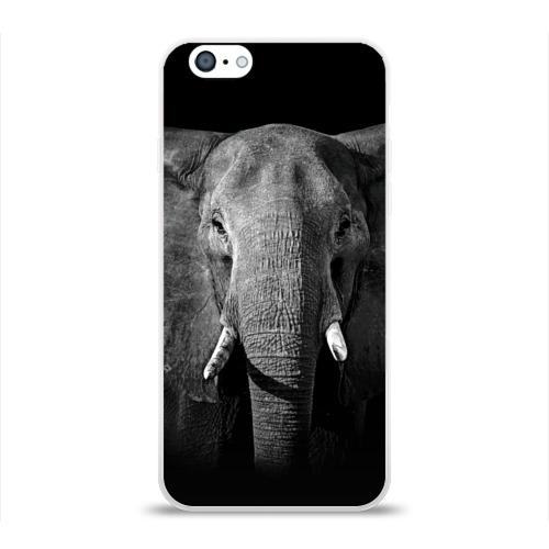 Чехол для Apple iPhone 6 силиконовый глянцевый  Фото 01, Слон
