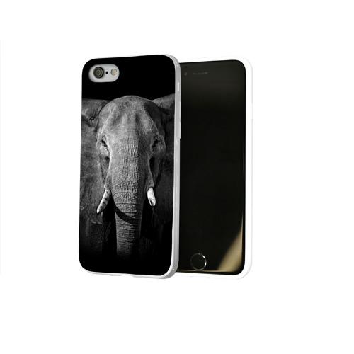 Чехол для Apple iPhone 8 силиконовый глянцевый  Фото 02, Слон