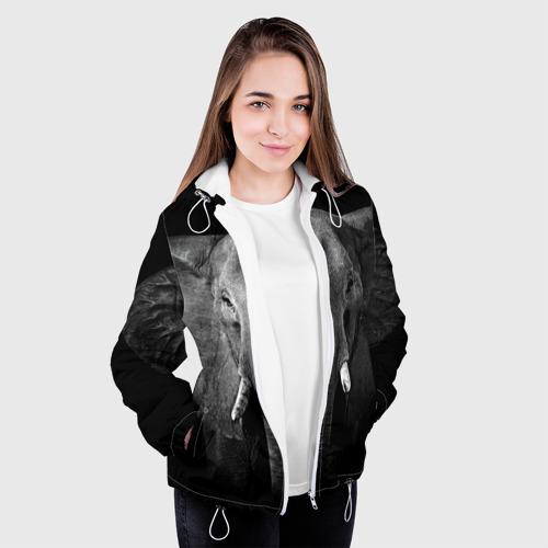 Женская куртка 3D  Фото 04, Слон