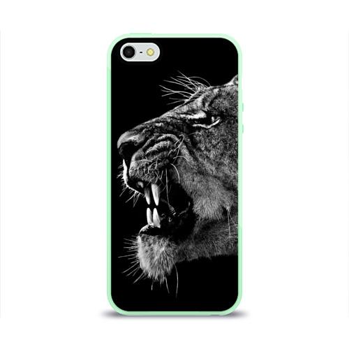 Чехол для iPhone 5/5S глянцевый Львица Фото 01