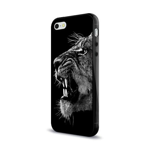 Чехол для Apple iPhone 5/5S силиконовый глянцевый Львица Фото 01