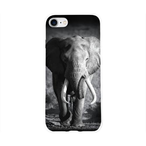 Чехол для Apple iPhone 8 силиконовый глянцевый  Фото 01, Слон