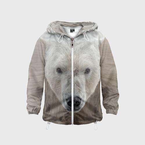 Детская ветровка 3D  Фото 01, Белый медведь