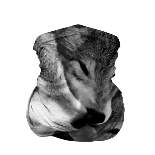 Бандана-труба 3D Волчья семья