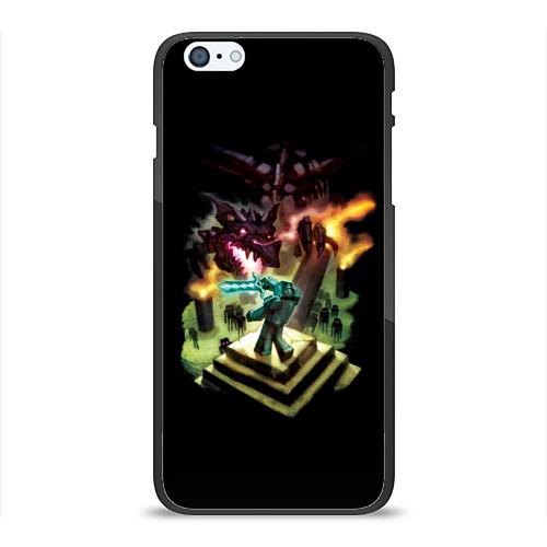Чехол для Apple iPhone 6Plus/6SPlus силиконовый глянцевый  Фото 01, MINECRAFT