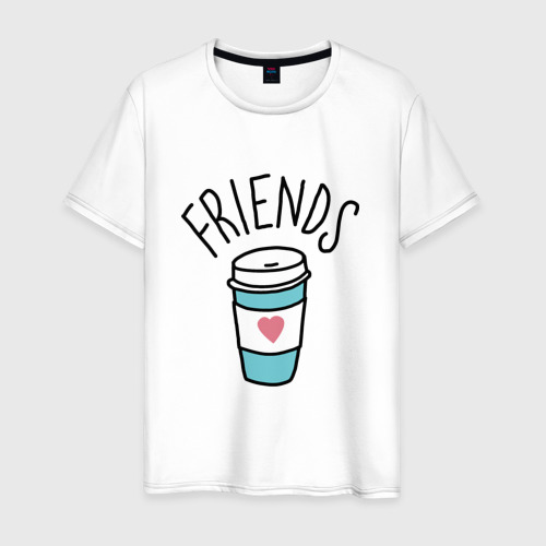 Мужская футболка хлопок best friends