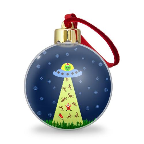 Ёлочный шар с блестками  Фото 01, Похищение Санта Клауса
