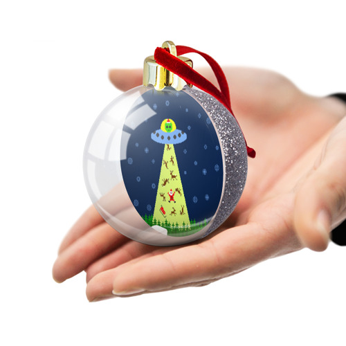 Ёлочный шар с блестками  Фото 03, Похищение Санта Клауса