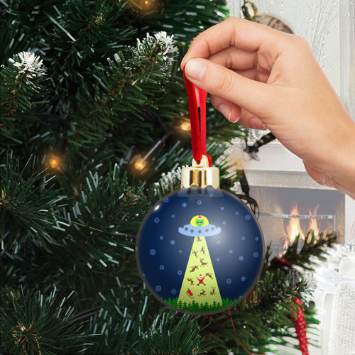 Ёлочный шар с блестками  Фото 04, Похищение Санта Клауса