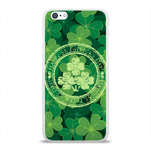 Чехол для Apple iPhone 6Plus/6SPlus силиконовый глянцевый  Фото 01, Ireland, Happy St. Patrick's Day