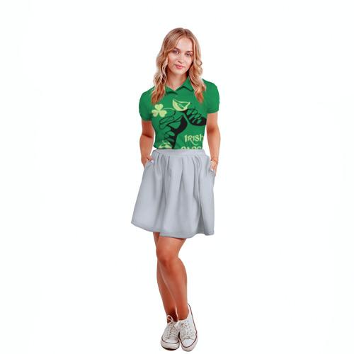 Женская рубашка поло 3D  Фото 04, Ireland, Irish dance