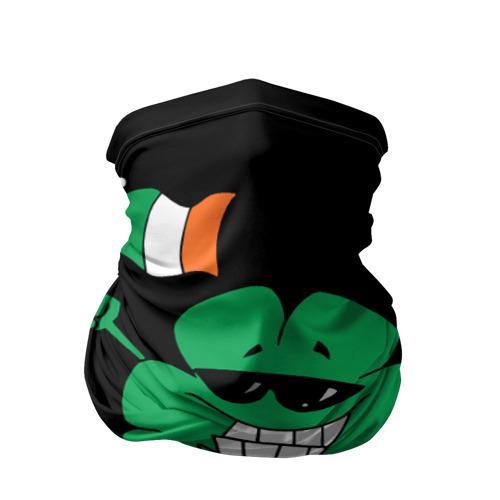 Бандана-труба 3D  Фото 01, Ирландия, клевер с флагом