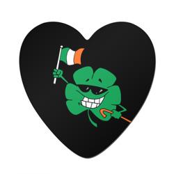 Ирландия, клевер с флагом