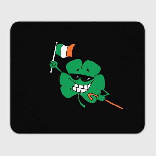 Коврик прямоугольный  Фото 01, Ирландия, клевер с флагом