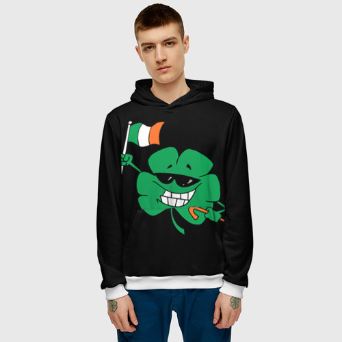 Мужская толстовка 3D  Фото 03, Ирландия, клевер с флагом
