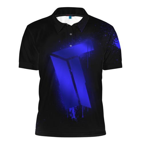 Мужская рубашка поло 3D cs:go - Titan (Black collection)