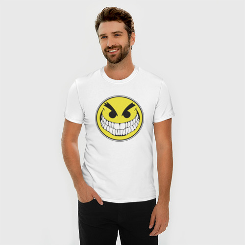 Мужская футболка премиум  Фото 03, Злой смайл