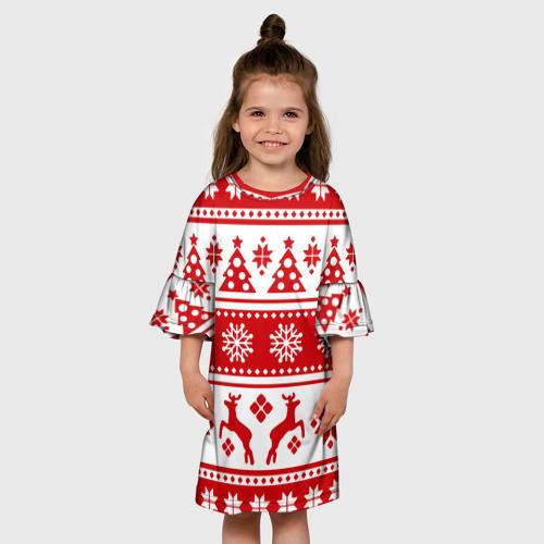 Детское платье 3D Праздник к нам приходит Фото 01