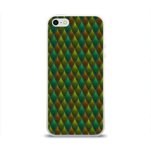 Чехол для Apple iPhone 5/5S силиконовый глянцевый  Фото 01, Чешуя
