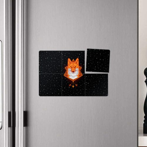 Магнитный плакат 3Х2  Фото 04, Огненный лис