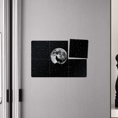 Магнитный плакат 3Х2  Фото 04, Лунный волк