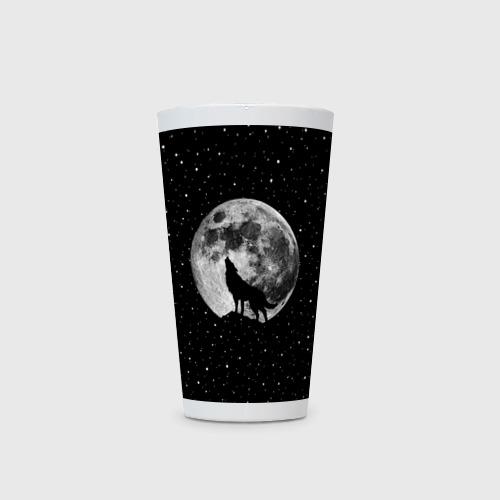 Кружка Латте Лунный волк Фото 01