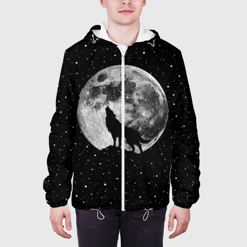 Мужская куртка 3D  Фото 04, Лунный волк