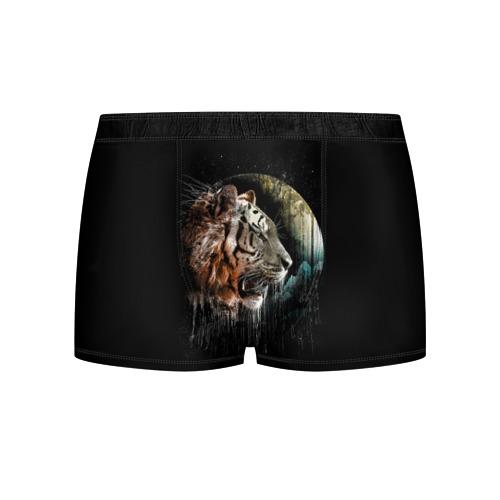 Мужские трусы 3D  Фото 01, Космический тигр