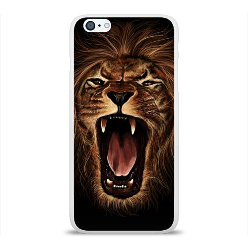 Чехол для Apple iPhone 6Plus/6SPlus силиконовый глянцевый Львиный рык Фото 01