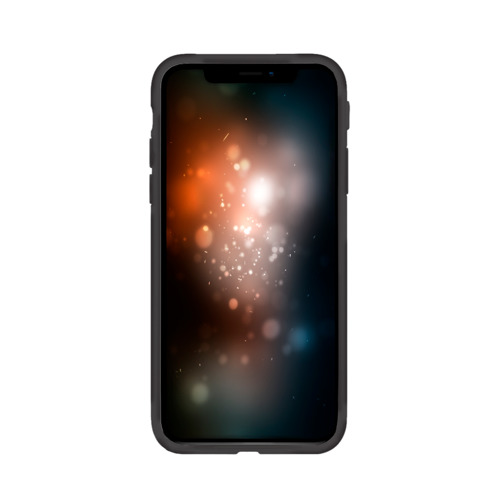Чехол для Apple iPhone X силиконовый матовый Львиный рык Фото 01