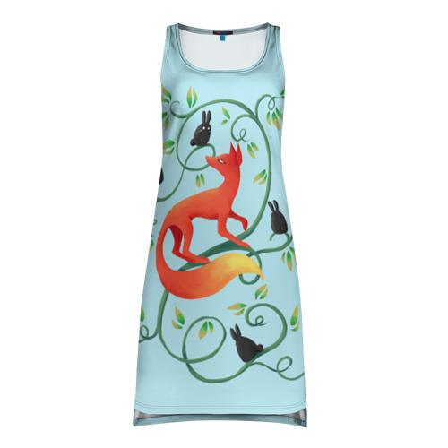 Платье-майка 3D Милая лисичка