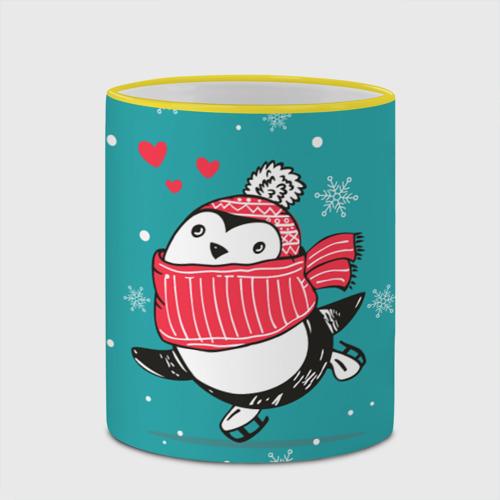 Кружка с полной запечаткой Пингвинчик на коньках Фото 01