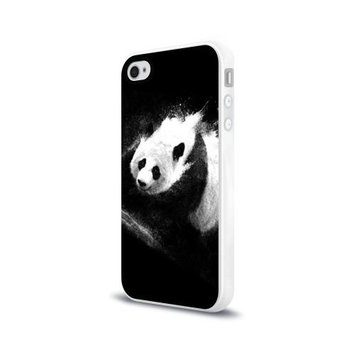 Чехол для Apple iPhone 4/4S силиконовый глянцевый  Фото 03, Молочная панда