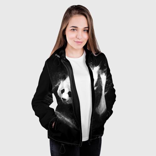 Женская куртка 3D  Фото 04, Молочная панда