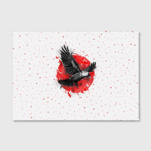 Холст прямоугольный Черный ворон Фото 01