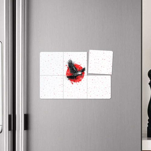 Магнитный плакат 3Х2  Фото 04, Черный ворон