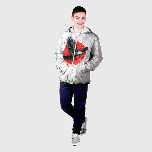 Мужская куртка 3D Черный ворон Фото 01