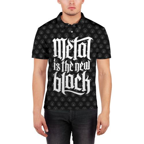 Мужская рубашка поло 3D  Фото 03, Metal is the new Black