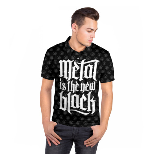 Мужская рубашка поло 3D  Фото 05, Metal is the new Black