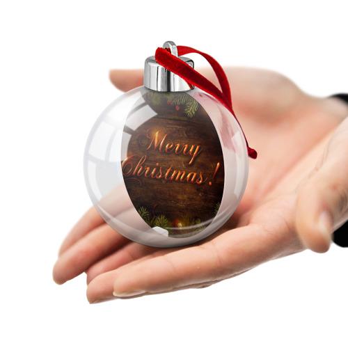 Ёлочный шар  Фото 02, Merry Christmas