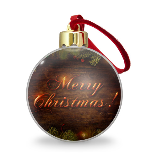 Ёлочный шар с блестками  Фото 01, Merry Christmas