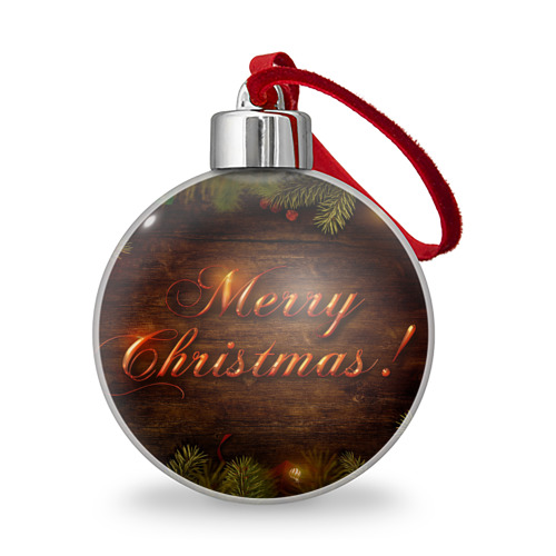 Ёлочный шар  Фото 01, Merry Christmas