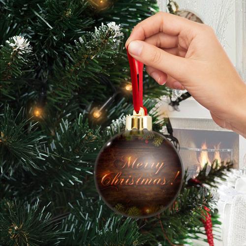 Ёлочный шар с блестками  Фото 04, Merry Christmas