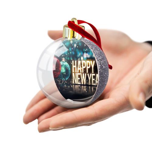Ёлочный шар с блестками  Фото 03, Подарок к новому году