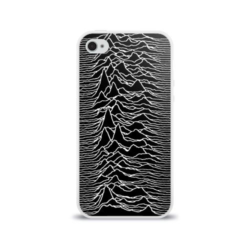 Чехол для Apple iPhone 4/4S силиконовый глянцевый Joy Division. Unknown Pleasures Фото 01