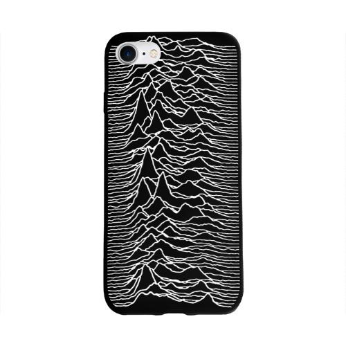 Чехол для Apple iPhone 8 силиконовый глянцевый Joy Division. Unknown Pleasures Фото 01
