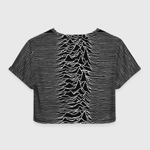 Женская футболка Crop-top 3D Joy Division. Unknown Pleasures Фото 01