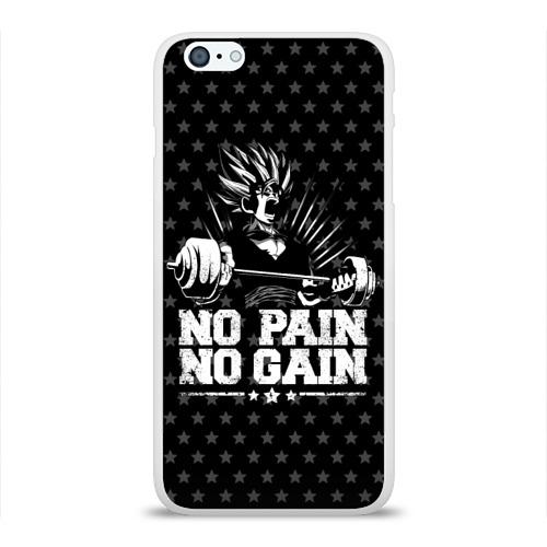Чехол для Apple iPhone 6Plus/6SPlus силиконовый глянцевый  Фото 01, No Pain No Gain