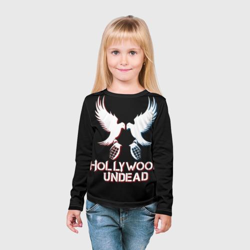 Детский лонгслив 3D  Фото 03, Hollywood Undead